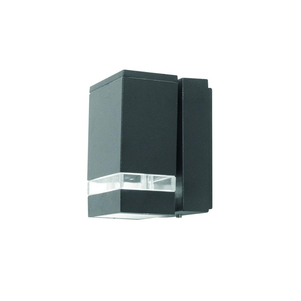 Exterior Garage Downlights: Lutec Lighting UT/FOCUS/LED6051 Exterior LED Graphite