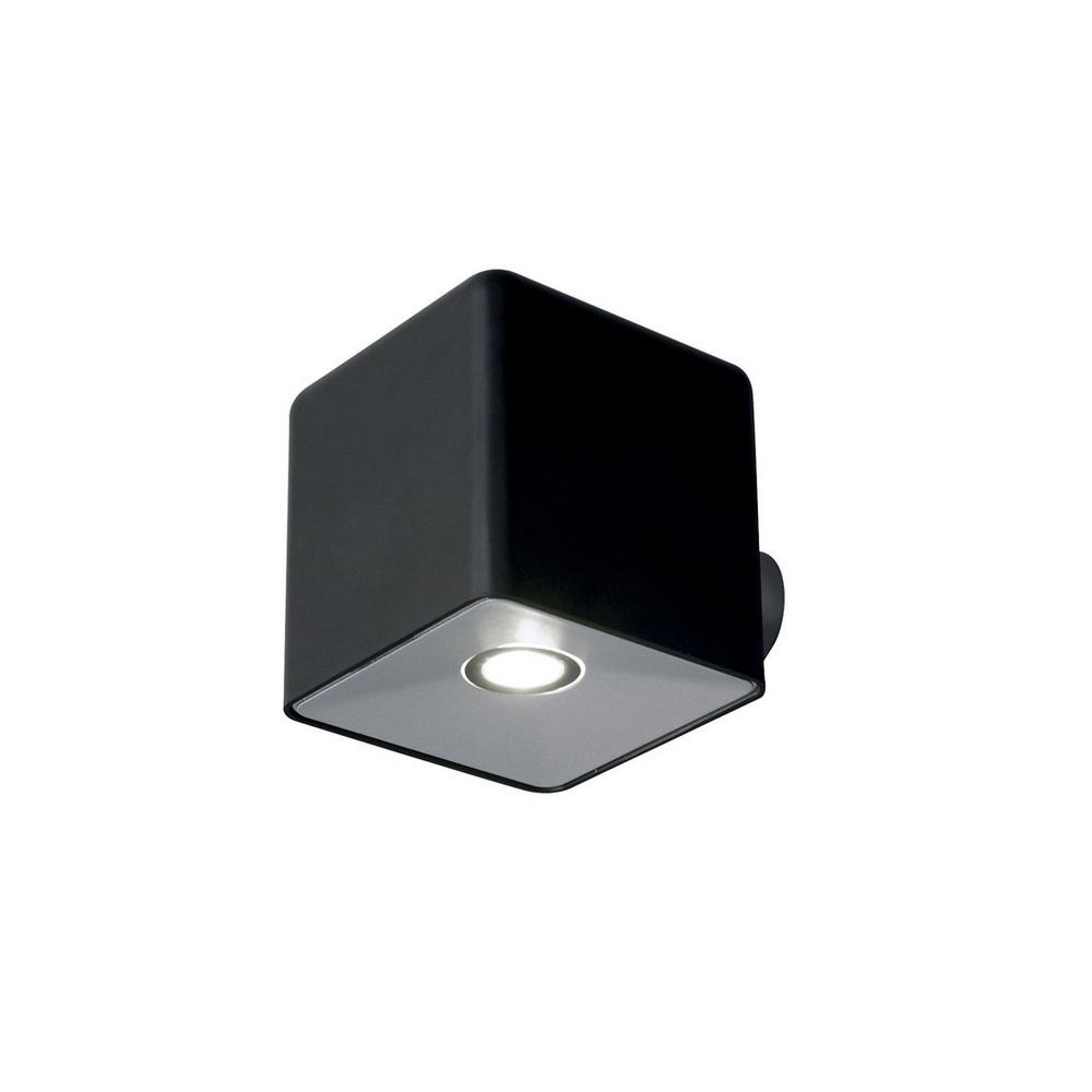 Landscape Lighting Utah: Lutec Lighting UT/PIXEL/BLACK Exterior LED Modern Cube