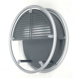 UT/WIRE/3441 Exterior Modern Round Silver Finish Wall Light