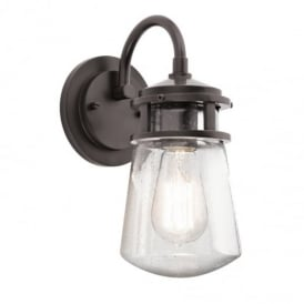 Lyndon Small Outdoor Wall Lantern In Bronze Finish IP44 KL/LYNDON2/S