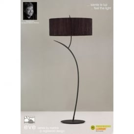 M1159/BS Eve 2 Light Anthracite Floor Lamp With Black Shade