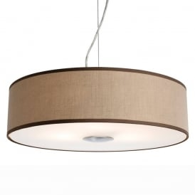 Madison Modern 3 Light Ceiling Pendant With Taupe Shade 4886TA