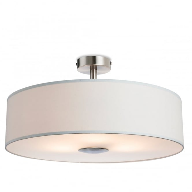 Firstlight Madison Modern 3 Light Semi Flush Ceiling Light With Cream Shade 4887CR