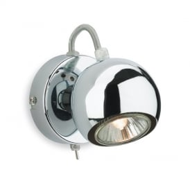 Magnetic Modern Chrome Single Spotlight - 3350CH