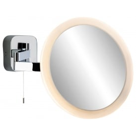 Magnifying LED Mirror Wall Light In Chrome Finish 3460