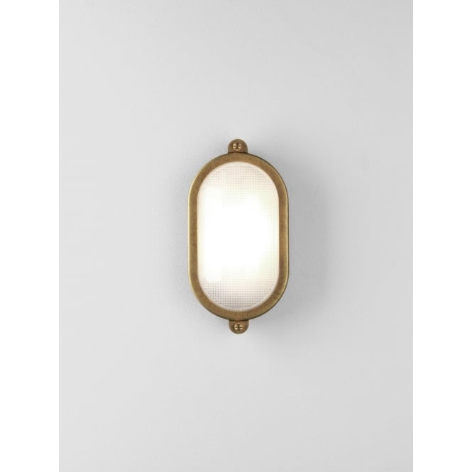 Astro Lighting Malibu Outdoor Oval Flush Fitting In Antique Brass Finish IP65 7970