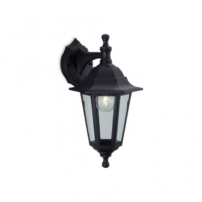 Firstlight Malmo Classic Outdoor Wall Lantern In Black Resin Finish 8349
