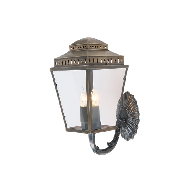Elstead Mansion House Wall Lantern In Aged Brass Finish IP44 MANSIONHS/WB1 BR