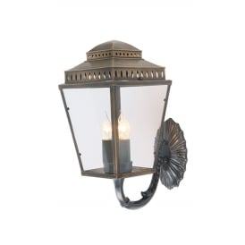 Mansion House Wall Lantern In Aged Brass Finish IP44 MANSIONHS/WB1 BR
