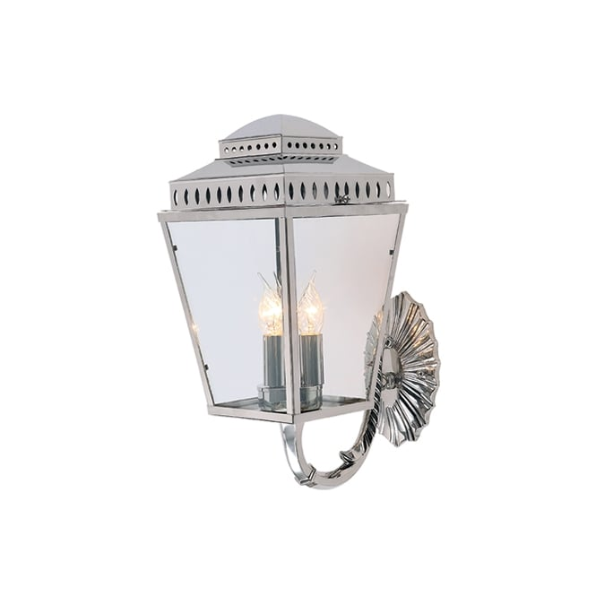 Elstead Mansion House Wall Lantern In Polished Nickel Finish IP44 MANSIONHS/WB1 PN