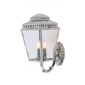 Mansion House Wall Lantern In Polished Nickel Finish IP44 MANSIONHS/WB1 PN
