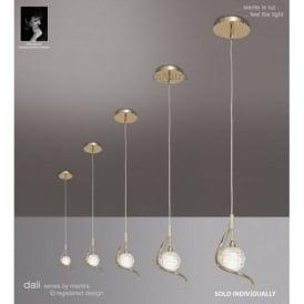Polished brass ceiling pendant lights m0084pb dali 1 light polished brass ceiling pendant light mozeypictures Images
