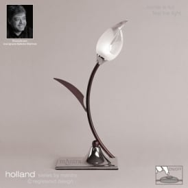 M0121 Holland 1 Light Chrome And Wenge Table Lamp Lamp