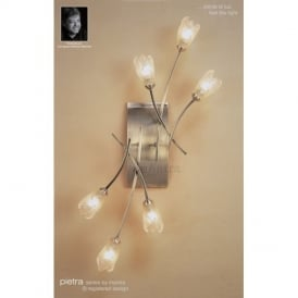 M0187AB Pietra Antique Brass 6 Lt Wall Or Ceiling Flush Lamp
