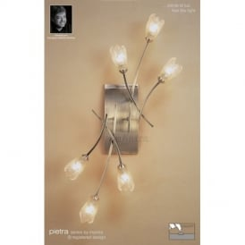 M0187AB/S Pietra Antique Brass 6 Lt Switched Wall Lamp