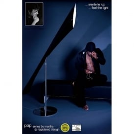 M0905 Pop Low Energy 3 Lt Chrome And Gloss Black Floor Lamp