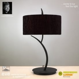 M1157/BS Eve 2 Light Anthracite Table Lamp With Black Shade