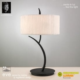 M1157 Eve 2 Light Anthracite Table Lamp With Ivory Shade