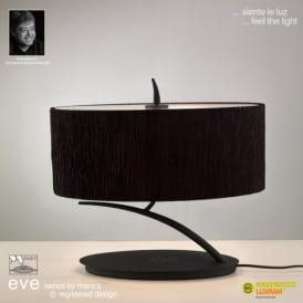 M1158/BS Eve 2 Lt Anthracite Small Table Lamp With Black Shade