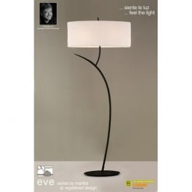 M1159 Eve 2 Light Anthracite Floor Lamp With Ivory Shade