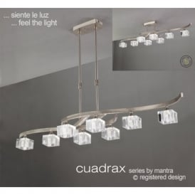 M2358 Cuadrax 8 Light Chrome Semi-Flush Ceiling Lamp