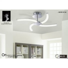 Conservatory mantra lighting semi flush ceiling lights m3561 on led 4 light semi flush ceiling light in chrome mozeypictures Image collections