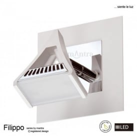 M8100 Filippo LED 1 Light Wall/Ceiling Spotlight in Chrome