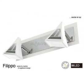 M8102 Filippo LED 2 Light Wall/Ceiling Spotlight in Chrome