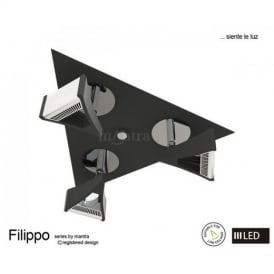M8104 Filippo LED 3 Light Wall/Ceiling Spotlight in Chrome