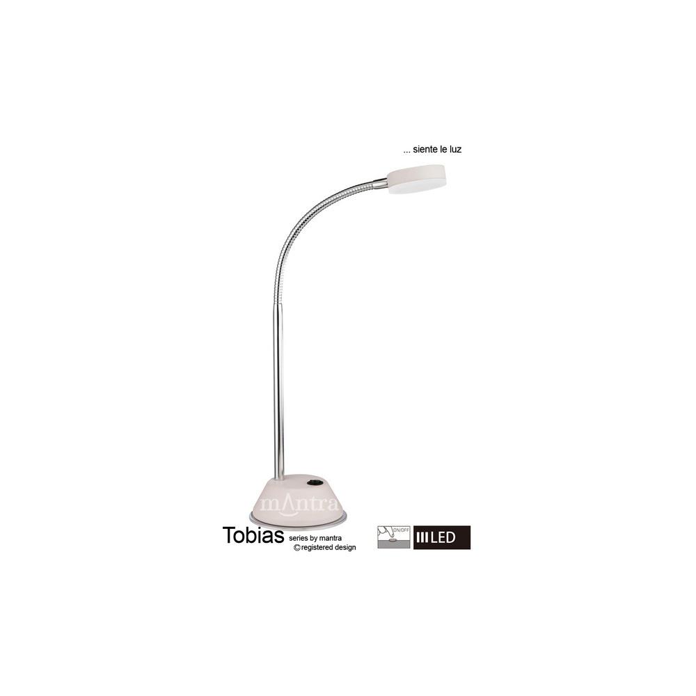 Mantra lighting m8140 tobias led 1 light flexible table lamp in m8140 tobias led 1 light flexible table lamp in whitechrome aloadofball Choice Image
