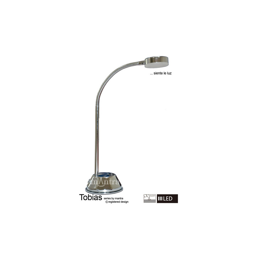 Mantra lighting m8142 tobias led 1 light flexible table lamp in m8142 tobias led 1 light flexible table lamp in chrome aloadofball Choice Image