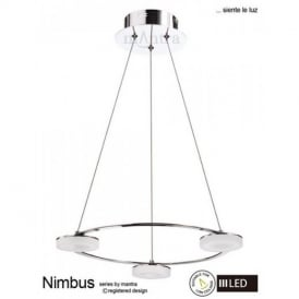 M8196 Nimbus LED 3 Light Ceiling Pendant in Chrome