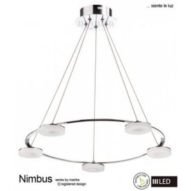 M8197 Nimbus LED 5 Light Ceiling Pendant in Chrome