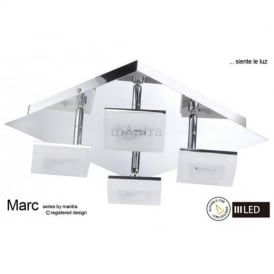 M8212 Marc LED 4 Light Ceiling Light in Polished Chrome