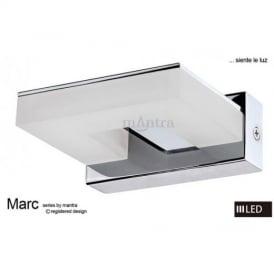 M8213 Marc LED 1 Light Wall Light in Polished Chrome