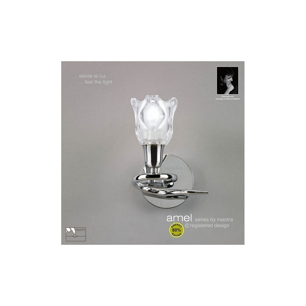 Mantra Lighting M8580PC Amel Low Energy 1 Light Chrome Wall Lamp - Lighting from The Home ...