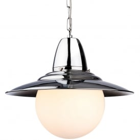 Marco Ceiling Pendant Light In Chrome Finish With Glass Shade 3408CH