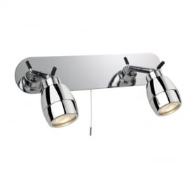 Marine Chrome 2 Way Bathroom Wall Spotlight, IP44
