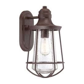 Marine Outdoor Medium Wall Lantern In Western Bronze Finish QZ/MARINE/M