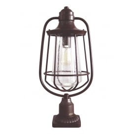 Marine Outdoor Pedestal Lantern In Western Bronze Finish QZ/MARINE3