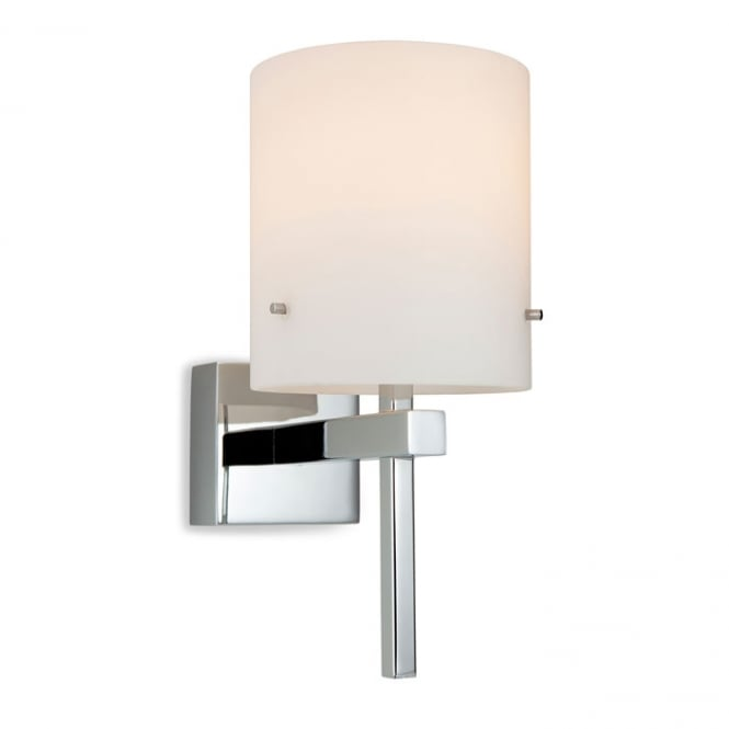 Firstlight Mario Bathroom Wall Light In Chrome Finish With Opal Glass Shade 8640