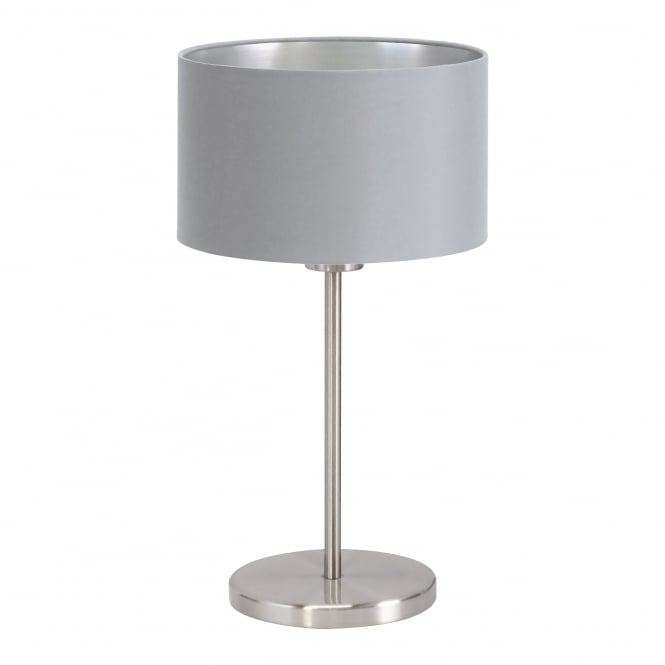Eglo Lighting Maserlo Elegant Table Lamp With Silver And