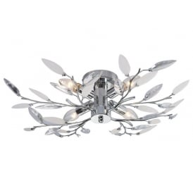 Meadow Decorative Semi Flush Ceiling Light in Polished Chrome Finish