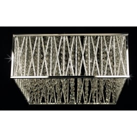 Melenki Rectangular Crystal Flush Ceiling Light In Chrome Finish CFH10221/04/PL/CH