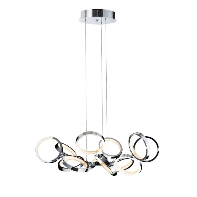 Illuminati Lighting Meridian Modern 13 Light Ceiling Pendant In Polished Chrome Finish MD13022003-13A
