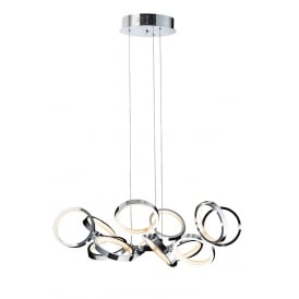 Meridian Modern 13 Light Ceiling Pendant In Polished Chrome Finish MD13022003-13A