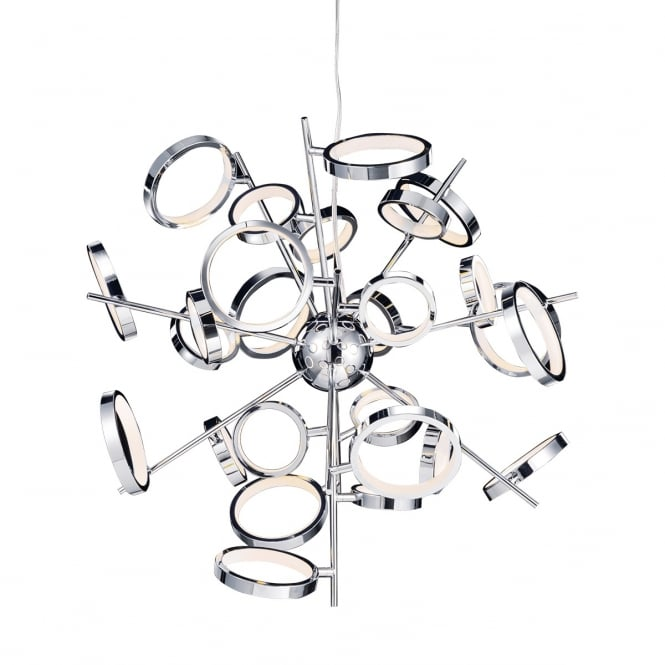 Illuminati Lighting Meridian Modern 26 Light Ceiling Pendant In Polished Chrome Finish MD13022003-26A