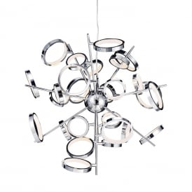 Meridian Modern 26 Light Ceiling Pendant In Polished Chrome Finish MD13022003-26A