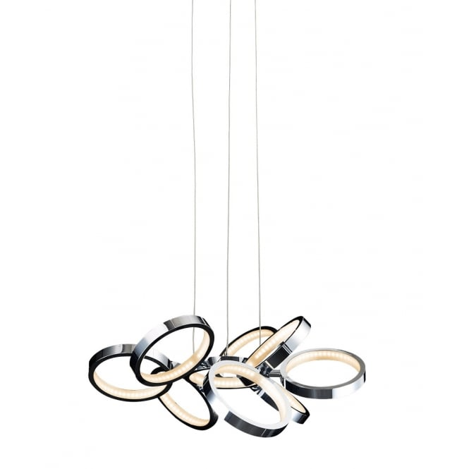 Illuminati Lighting Meridian Modern 9 Light Ceiling Pendant In Polished Chrome Finish MD13022003-9A