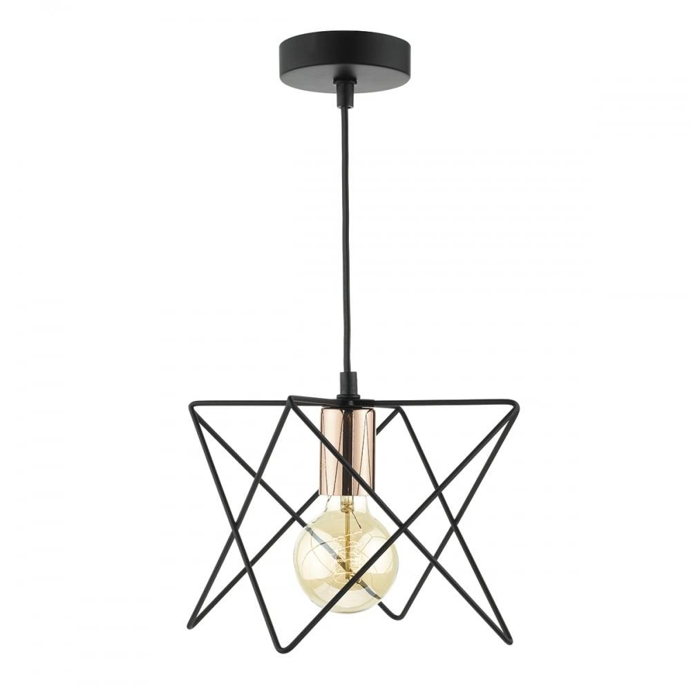 Midi wire ceiling pendant light in matt black finish mid0122